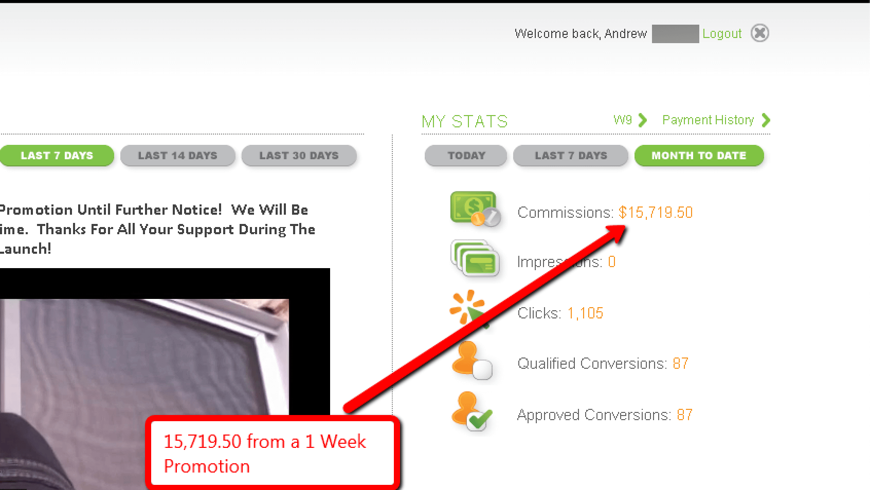 15K blog promotion income