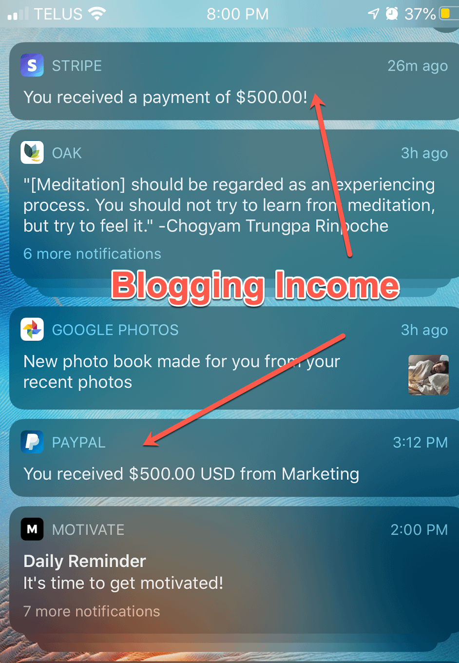 blogging daily income